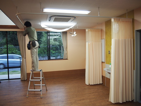 施設の間仕切りカーテン_f0196294_20155461.jpg