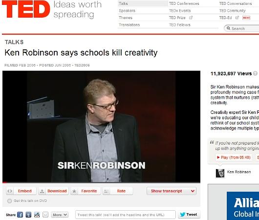 新学期前必見のTED講演最多視聴ビデオ、schools kill creativity_b0007805_11234873.jpg