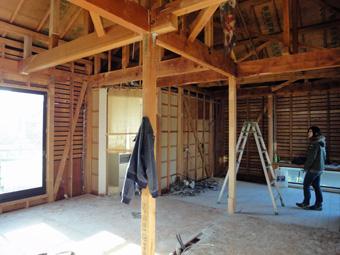 木造住宅の改修・「タブの木のある家」の工事風景_c0195909_9314415.jpg