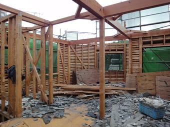 木造住宅の改修・「タブの木のある家」の工事風景_c0195909_9322832.jpg