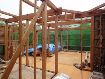 木造住宅の改修・「タブの木のある家」の工事風景_c0195909_9325617.jpg