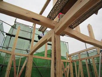 木造住宅の改修・「タブの木のある家」の工事風景_c0195909_933148.jpg