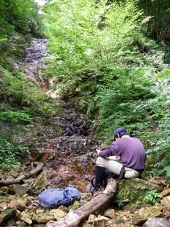明石谷支流ナラ谷大滝から明石1141.3m_a0133014_22463538.jpg