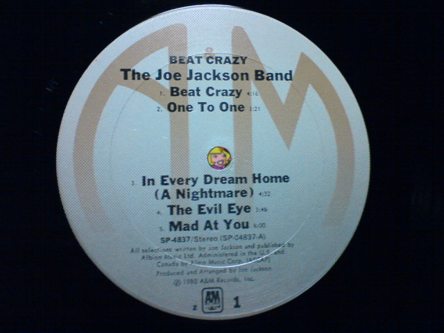 Beat Crazy / The Joe Jackson Band_c0104445_21532534.jpg