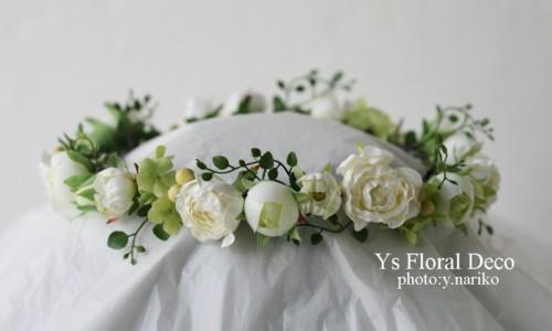 白とグリーンのブーケ&花冠 軽井沢へ_b0113510_142455.jpg