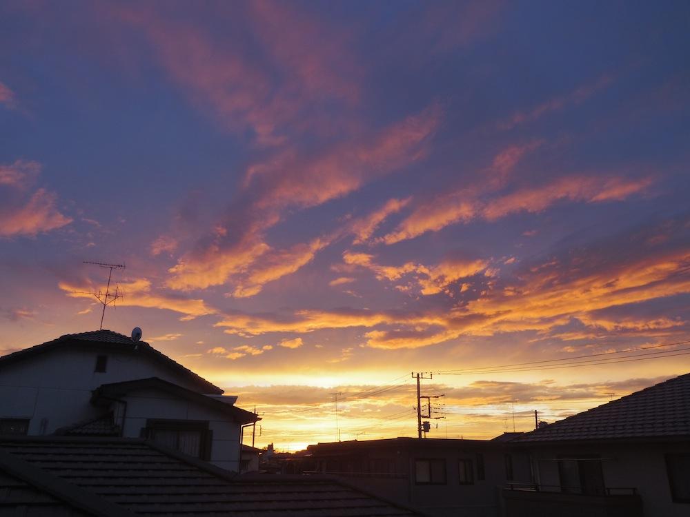 嵐の後の夕焼け_f0138807_0152593.jpg