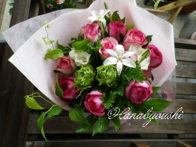 お届の花束。_b0129066_18501859.jpg