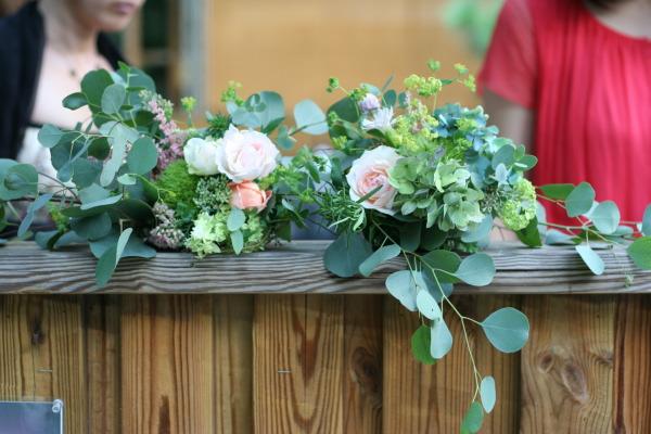 飯田橋ラ・ブラスリー様の装花 夏の終わり、秋のはじめ くすだまにあわせて _a0042928_22481014.jpg