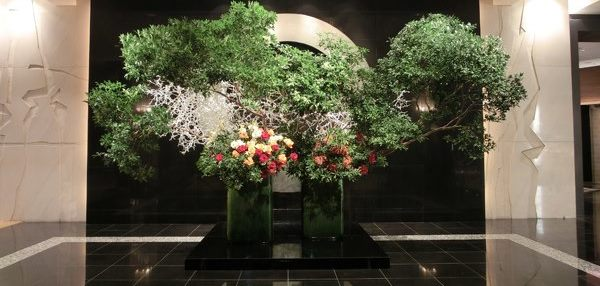 ホテルニューオータニ東京ロビーの花です_c0129404_23392085.jpg