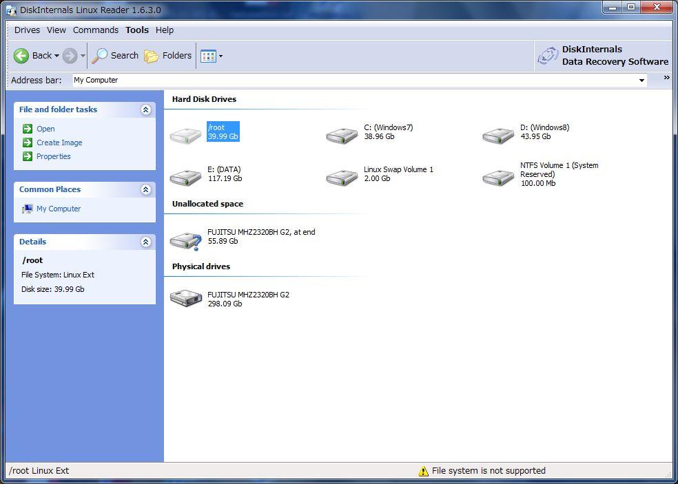 Windows7 から openSUSE の EXT4 パーティションを読む_a0056607_1883653.jpg