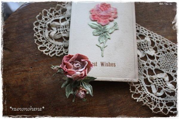 ピンク薔薇のイヤリング_a0094675_17102098.jpg