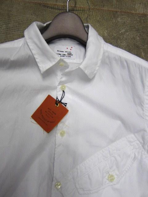 お待たせしました!★ Kato ・・・当店・別注 BIG Pocket SHIRTS (WHITE)入荷♪ _d0152280_23511343.jpg