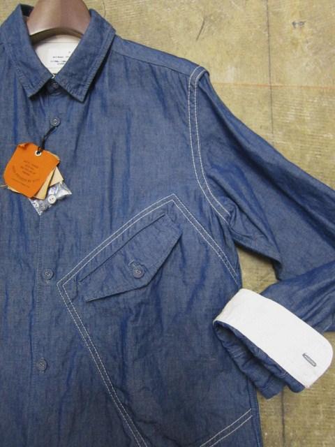 お待たせしました!★ Kato ・・・当店・別注 BIG Pocket SHIRTS (WHITE)入荷♪ _d0152280_23534039.jpg