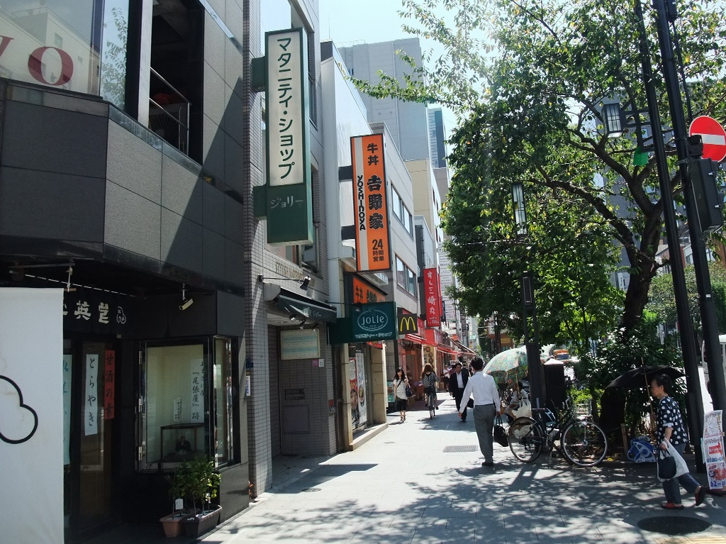茶荘への道のり〜人形町交差点_b0151300_111312.jpg