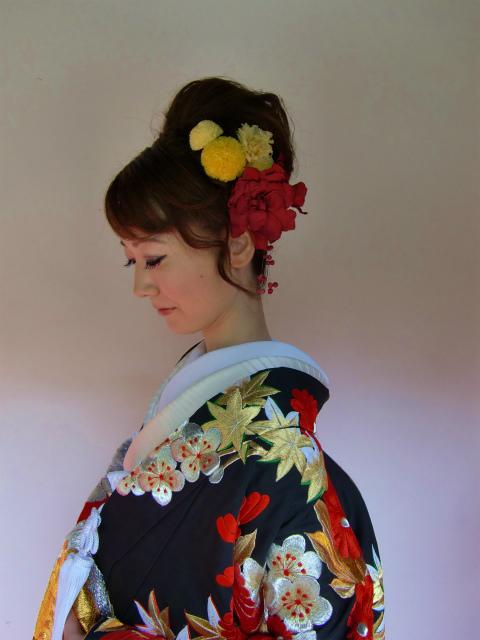 白無垢のヘッドドレス ユリのメリアの髪飾り 八芳園様へ_a0042928_0512976.jpg
