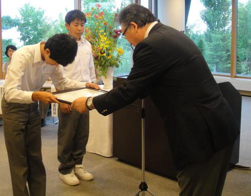 第20回学校花壇コンクール表彰式_e0145841_1946912.jpg