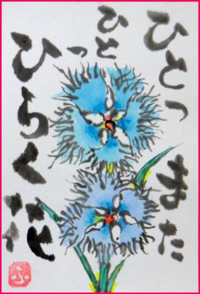 絵 手 紙 ( なでしこの花 ) 824_b0104092_13545745.jpg