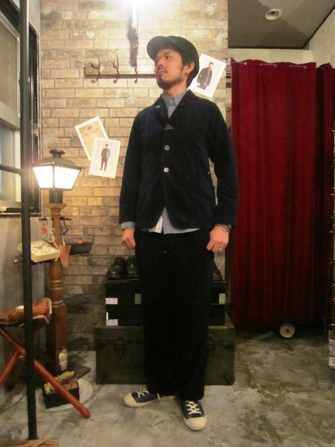 "ANACHRONORM \""INDIGO Cord Work JKE&PANTS\"" ご紹介_f0191324_10124789.jpg"