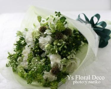 白とグリーンの花束_b0113510_22593473.jpg