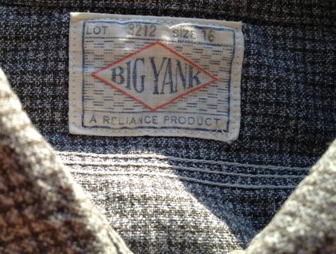 アメリカ仕入れ情報#50 40'S BIG YANK BLKシャンブレー ガチャポケオールコットン!_c0144020_136758.jpg