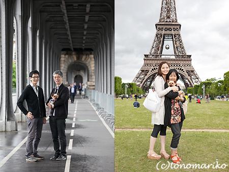 パリ旅行の記念に家族写真 まめちゃん一家編_c0024345_22461459.jpg