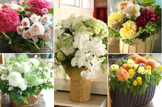 アトリエの仕事 (2012年9月前半の花贈りから)_d0203649_14462292.jpg