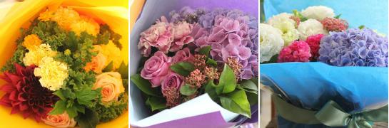 アトリエの仕事 (2012年9月前半の花贈りから)_d0203649_14501826.jpg