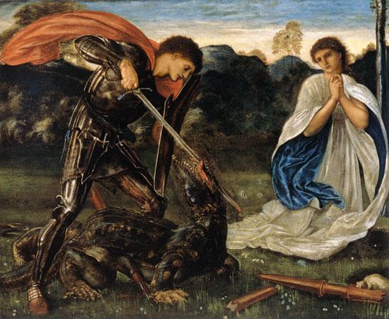 バーン=ジョーンズ展(4)龍を退治する聖ゲオルギウス : たんぶー ...