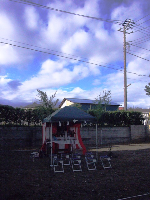「いただきハウス」地鎮祭を行いました_f0170331_1634254.jpg
