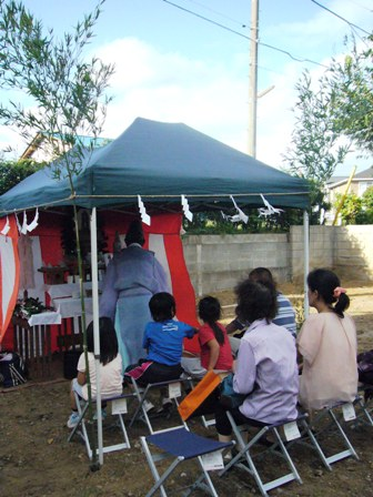 「いただきハウス」地鎮祭を行いました_f0170331_16343445.jpg
