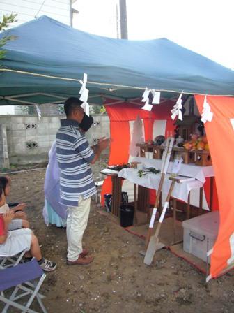 「いただきハウス」地鎮祭を行いました_f0170331_1636854.jpg