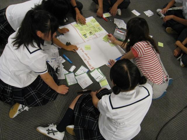北越高等学校において英語ワークショップ「Why do we study?」を実施しました。_c0167632_14573713.jpg