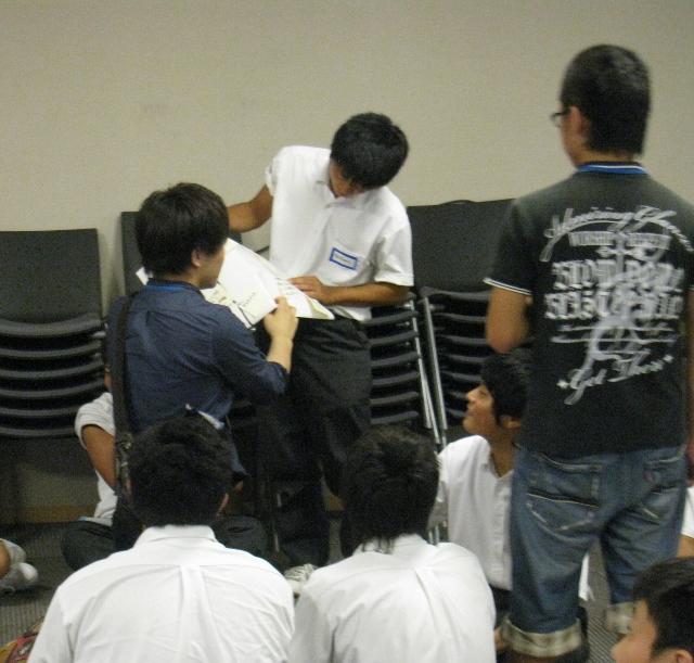 北越高等学校において英語ワークショップ「Why do we study?」を実施しました。_c0167632_1524960.jpg