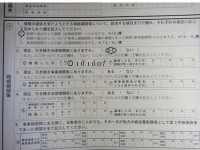 年金分割のための情報提供請求書 (2)_d0132289_0363140.jpg