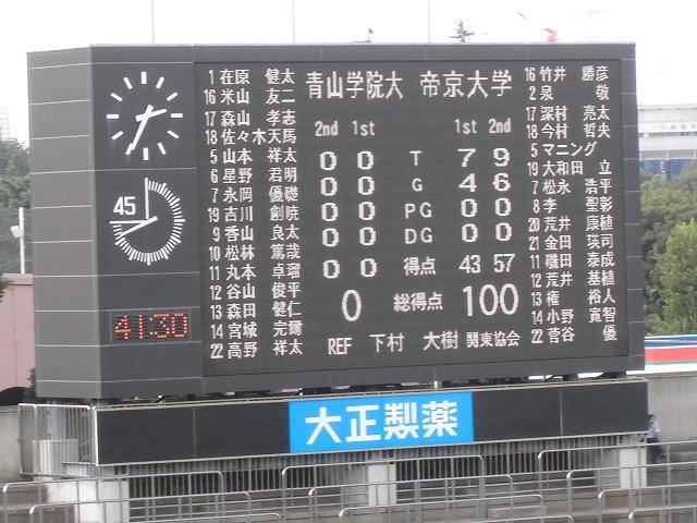 関東大学ラグビー慶応VS筑波を観戦 「残念!」_f0141310_872717.jpg