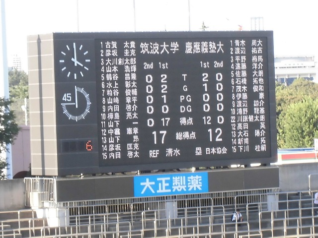 関東大学ラグビー慶応VS筑波を観戦 「残念!」_f0141310_89285.jpg