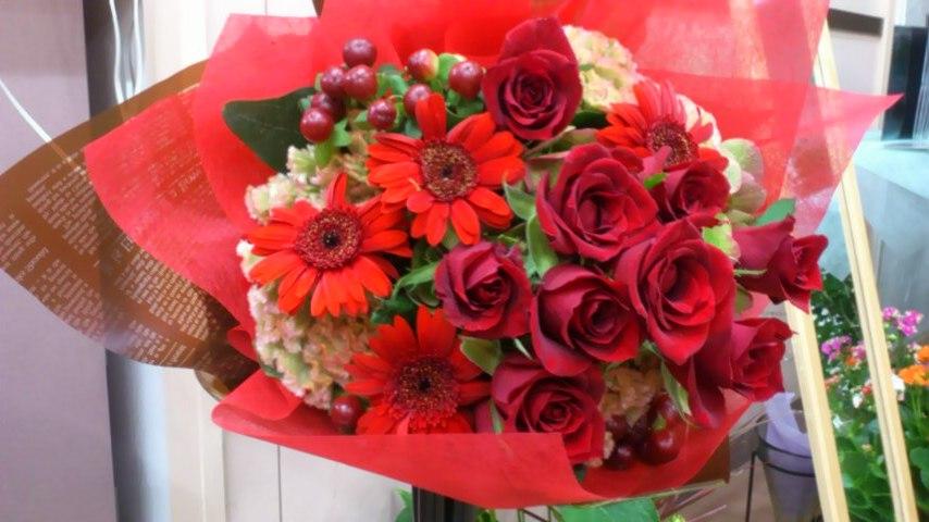 赤の花束  花はなひなblog