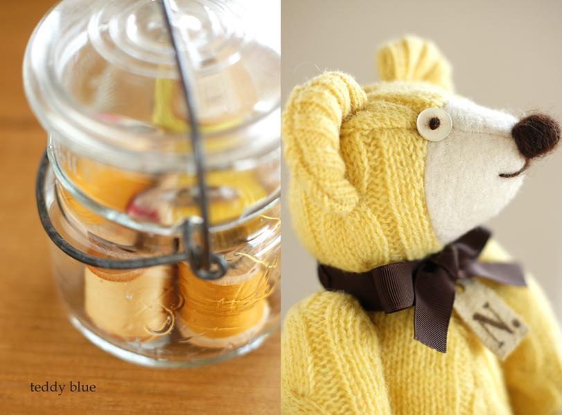 happy yellow teddy  幸せの黄色いテディ_e0253364_2353284.jpg