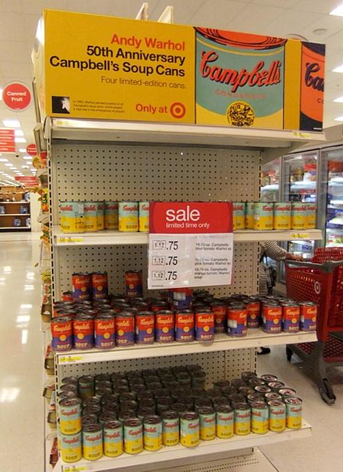 ウォーホールの代表作「キャンベル・スープ缶」を再現した本物のスープ缶がたった75セント?!_b0007805_8215838.jpg