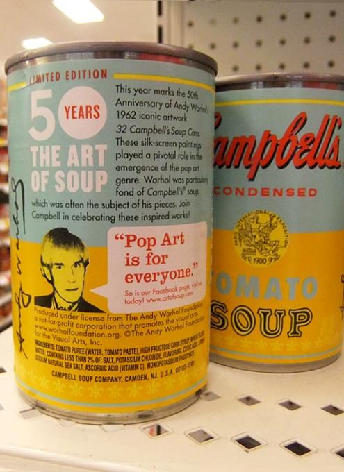 ウォーホールの代表作「キャンベル・スープ缶」を再現した本物のスープ缶がたった75セント?!_b0007805_822881.jpg