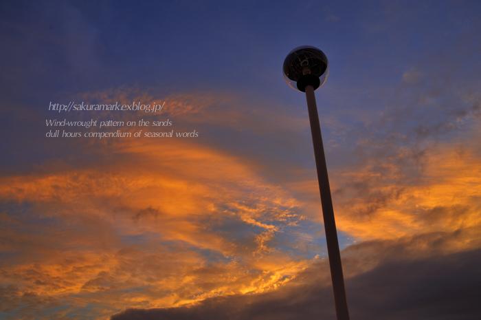 秋の夕空Ⅰ_f0235723_1903336.jpg