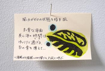 「紺碧の風展」 〜 毎日二人で在廊してます。_a0017350_2591213.jpg
