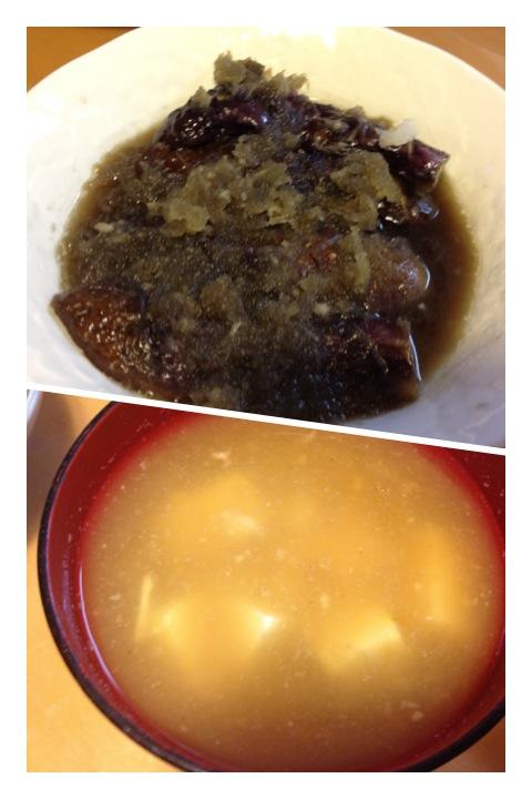 にくじゃがと山芋の味噌汁_a0194908_14282461.jpg