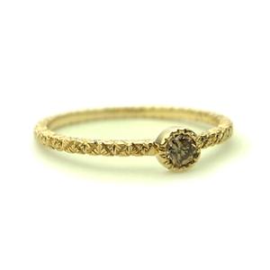 ミルグレインとブラウンダイヤの婚約指輪_e0131432_10422127.jpg