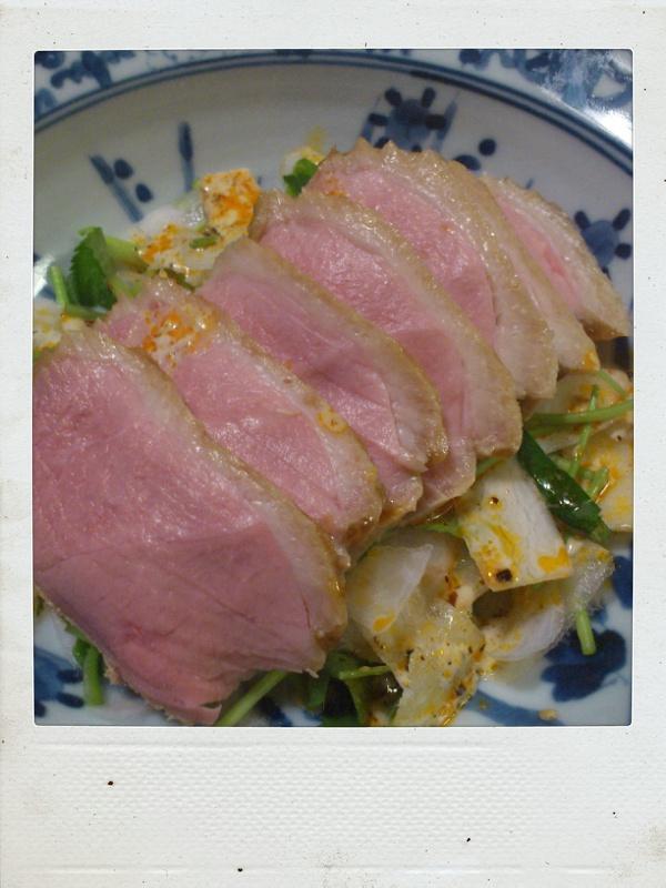 鴨ロース肉の醤油麹ロースト_b0065587_2222439.jpg