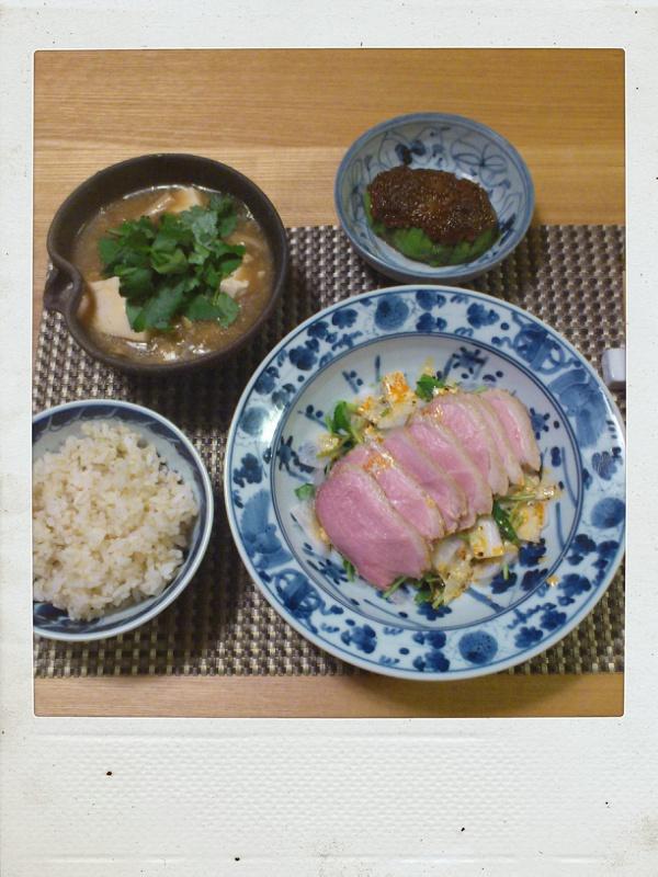 鴨ロース肉の醤油麹ロースト_b0065587_2225196.jpg