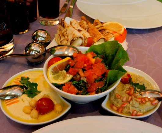 ジュネーブのお皿:コーラが高い高級レバノン料理店_c0201334_2252165.jpg