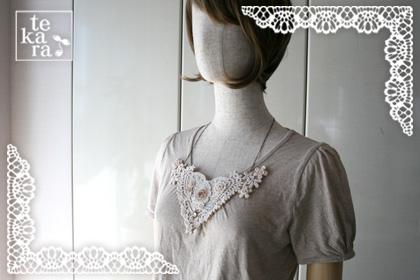 大きな胸元レースネックレス*_a0139874_200784.jpg