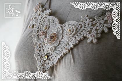 大きな胸元レースネックレス*_a0139874_2011853.jpg