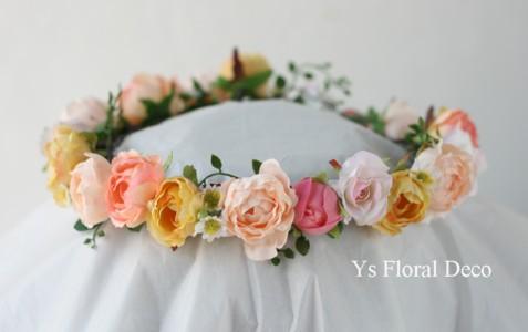 ディズニーアンバサダーホテルの新婦さんへ カラフルな花冠_b0113510_2319503.jpg